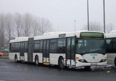Scania Gelenkbus von Berlin nach Paris 1120 gefahrenene km